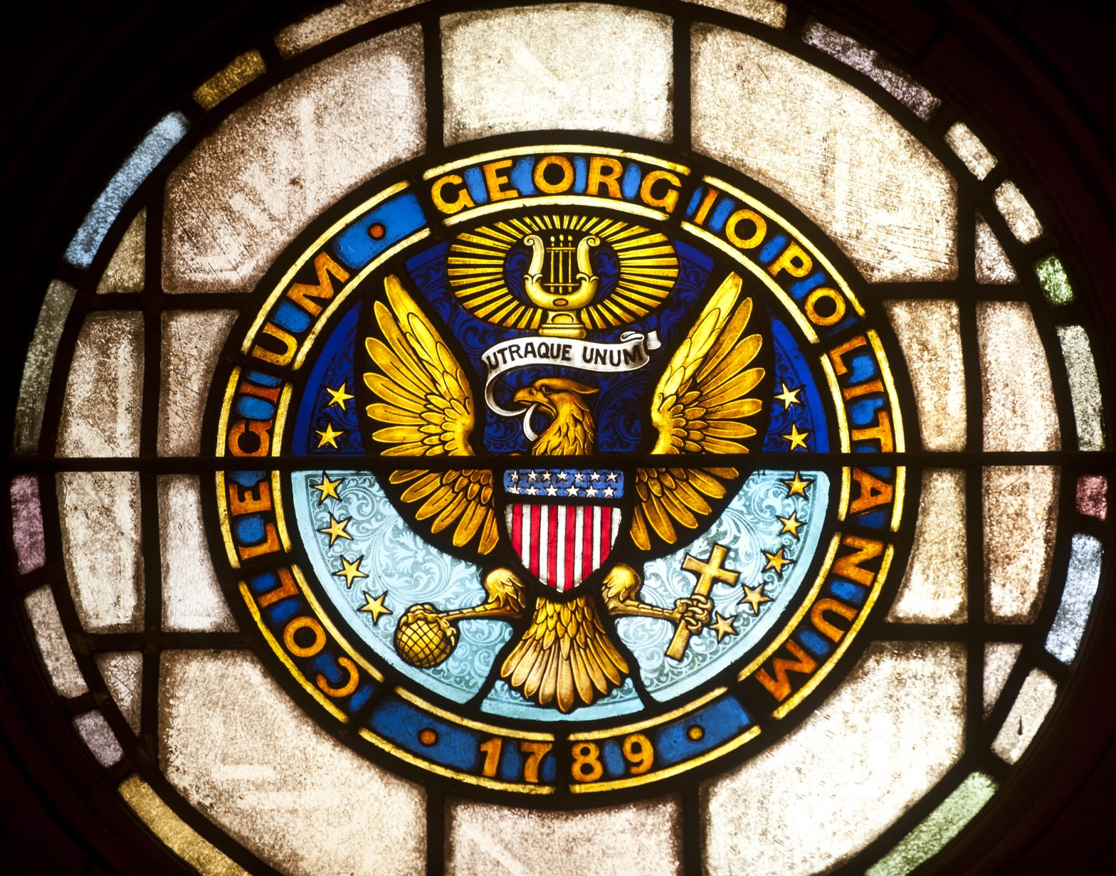 Stained Glass Seal of Georgetown University